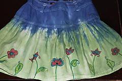 Detské oblečenie - Detská batikovaná suknička s kvetinkami - 9842108_