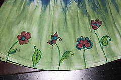 Detské oblečenie - Detská batikovaná suknička s kvetinkami - 9842109_