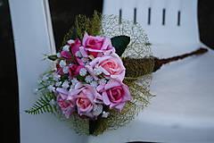 Dekorácie - Ružové ruže - 9844178_