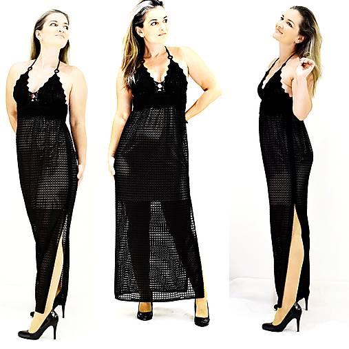 0b18353e0070 Happy háčkované čierne šaty   HAPPYpeople - SAShE.sk - Handmade Šaty
