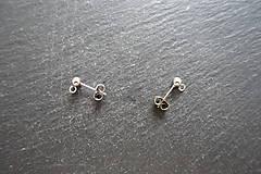 Komponenty - Náušnicové puzetky -stainless steel- - 9841714_