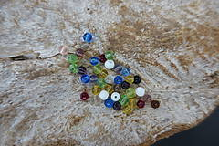 Korálky - Sklenené korálky mix 4-6-8-10mm - 9843334_