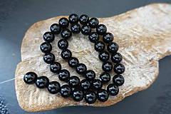 Minerály - Sklenená korálky čierne 10mm - 9843368_