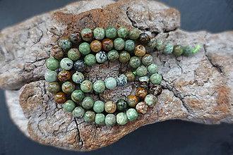 Minerály - Opál zelenohnedý 6mm - 9841532_