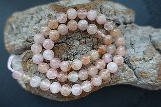 Minerály - Morganit ružovobiely 6-8-10mm (8mm) - 9841601_