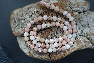 Minerály - Morganit ružovobiely 6-8-10mm (6mm) - 9841612_