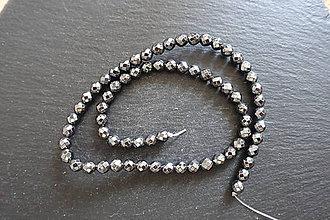 Minerály - Hematit čierny fazetovaný 6mm - 9841629_
