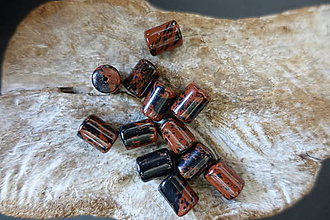 Minerály - Obsidián hnedý vločkový - 9842402_