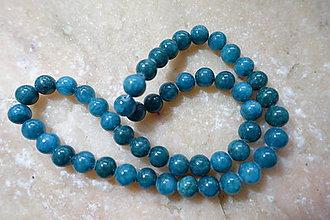 Minerály - Jadeit 8mm / 48ks (Modrá) - 9843479_