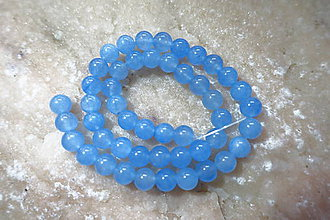 Minerály - Jadeit 8mm / 48ks (Modrá) - 9843483_