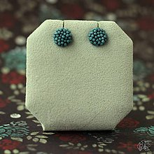 Náušnice - Minizetky (Modrá džínsová) - 9842501_
