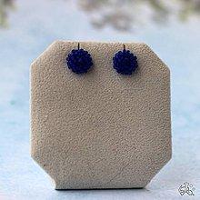 Náušnice - Minizetky (Modrá ľadová) - 9842504_