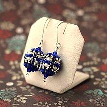 Náušnice - Baroko modré - 9842617_