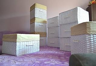 Košíky - Šatníkové boxy LUCIA 1 / sada - 9843056_