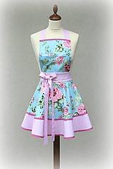 Iné oblečenie - luxusná zástera Roses tyrkys - 9847284_