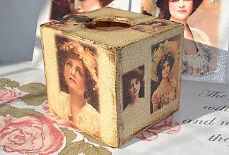 """Krabičky - Box na vreckovky """"Dávne časy"""" - IHNEĎ K ODOSLANIU !!! - 9846593_"""