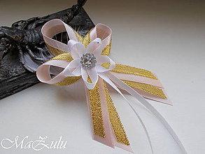 Pierka - svadobné pierko zlaté - 9844819_