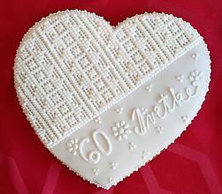 Darčeky pre svadobčanov - Perníkové srdce MAXI - 9845125_