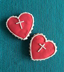 """Dekorácie - Perníkové srdce STREDNÉ """"Prijímanie"""" - 9847319_"""