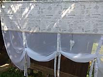 Úžitkový textil - Záclonka písmenka - 9845944_