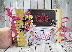 Papiernictvo - Sweet Love svadobná kniha hostí - 9845646_