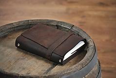 Papiernictvo - Kombinovaný kožený zápisník SITTING BULL - 9845704_