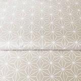Textil - béžové origami; 100 % bavlna Francúzsko, šírka 160 cm - 9845011_