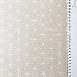 Textil - béžové origami; 100 % bavlna Francúzsko, šírka 160 cm - 9845014_
