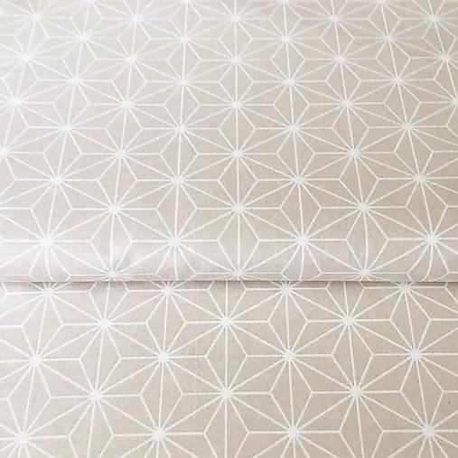 béžové origami; 100 % bavlna Francúzsko, šírka 160 cm