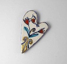 Odznaky/Brošne - Tana šperky - keramika/zlato - 9846806_
