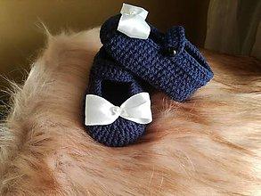 Topánočky - Papučky modré - 9845917_