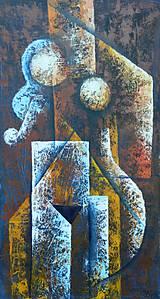 Obrazy - HOUSLISTKA, kubismus - 9846890_