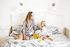 Pyžamy a župany - Nočná košela na dojčenie birds - 9847435_
