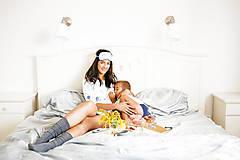 Pyžamy a župany - Nočná košela na dojčenie Balloons - 9847440_
