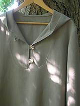 Mikiny - Ľanová mikina s kapucňou - 9846018_