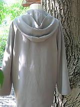 Mikiny - Ľanová mikina s kapucňou - 9846024_