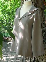 Mikiny - Ľanová mikina s kapucňou - 9846026_