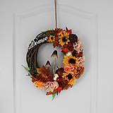 Dekorácie - Bohatý jesenný veniec s hríbikmi - 9845569_