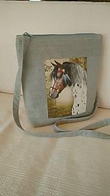 Veľké tašky - Ľanová taška na plece - 9846073_