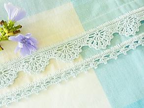 Úžitkový textil - Utierka s háčkovaným okrajom, svetlomodrá - 9845375_