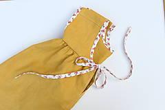 """Detské oblečenie - Low Back šaty """"Ľanové"""" dlhé - 9847486_"""