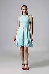 Šaty - Šaty Mint s krajkou - 9849648_