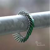 Šupináč - náramok (zelený)