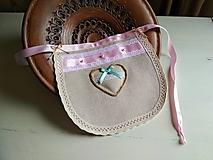 Iné doplnky - Svadobný podbradník Ivory Love ONA :) ružový s kvapkou mentolu - 9851010_