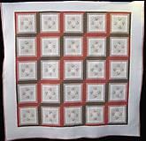 Úžitkový textil - Patchworková deka NEŽNÉ KVIETKY  (rozmer 218 x 218 cm) - 9849696_