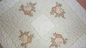 Úžitkový textil - Patchworková deka NEŽNÉ KVIETKY  (rozmer 218 x 218 cm) - 9849698_