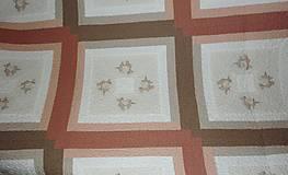 Úžitkový textil - Patchworková deka NEŽNÉ KVIETKY  (rozmer 218 x 218 cm) - 9850211_