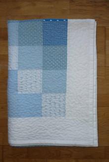 Úžitkový textil - Prikrývka-deka MODRÁ OBLOHA - 8043946_