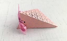 Papiernictvo - Krabičky na drobné darčeky (Ružová) - 9848041_