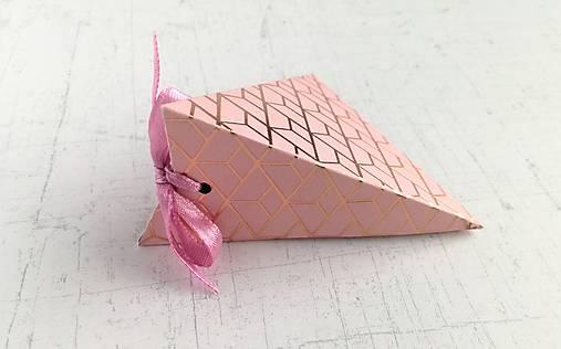 Krabičky na drobné darčeky (Ružová)